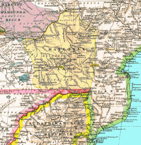 Map of Matabeleland